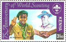 [The 75th Anniversary of Boy Scout Movement and the 60th Anniversary of Girl Guide Movement, Typ HH]