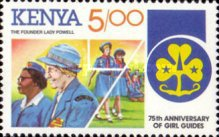 [The 75th Anniversary of Girl Guide Movement, Typ LL]