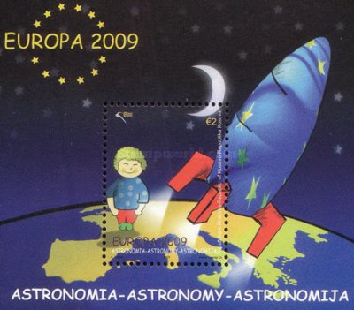 [EUROPA Stamps - Astronomy. Without White Frame, Typ ]