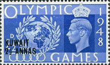 [Olympic Games - London, England - Great Britain Postage Stamps of 1948 Surcharged, type BK]