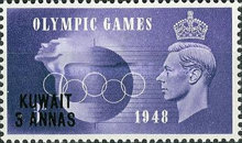 [Olympic Games - London, England - Great Britain Postage Stamps of 1948 Surcharged, type BL]