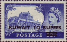 [Castles and Queen Elizabeth II - Stamps of Great Britain Overprinted