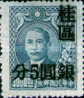 [China Empire Postage Stamps Surcharged, type C5]