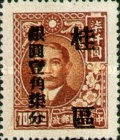 [China Empire Postage Stamps Surcharged, type C8]
