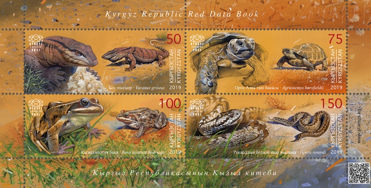 [Red Book of Kyrgyzstan - Reptiles & Amphibians, Typ ]