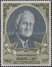 [Airmail - The 25th Anniversary of the Death of Franklin D. Roosevelt (American Statesman), 1882-1945, type JR]