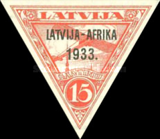 [First Airmail to Gambia - Overprinted