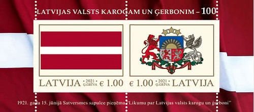 [Flag and Coat of Arms of Latvia, type ]