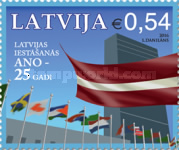 [The 25th Anniversary of Latvian Membership of the United Nations, Typ ACI]