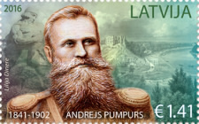 [The 175th Anniversary of the Birth of Andrejs Pumpurs, 1841-1902, Typ ACJ]