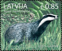 [Latvian Animals - Badger, Typ ADJ]
