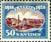 [The 10th Anniversary of Latvian Independence, type AG]