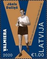[The First Latvian Olympic Medalist, Janis Dalins, 1904-1978, type AHA]