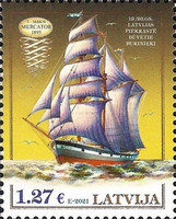 [History of Navigation - Three-Mast Barquentine, type AHJ]