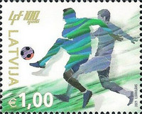 [The 100th Anniversary of the Latvian Football Association, type AHP]