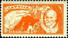 [J.Rainis Memorial Foundation. Also issued Imperforated - Double Value  of Perforated Stamps, Typ AR]