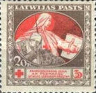 [Red Cross Charity - Brown and Green Design on Back, A type with Blue Design on Back, Typ H]