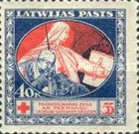 [Red Cross Charity - Brown and Green Design on Back, A type with Blue Design on Back, Typ H2]