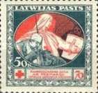 [Red Cross Charity - Brown and Green Design on Back, A type with Blue Design on Back, Typ H4]