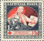 [Red Cross Charity - Brown and Green Design on Back, A type with Blue Design on Back, Typ H6]