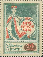 [No. 23 Overprinted with New Values, Typ I1]