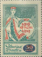 [No. 23 Overprinted with New Values, Typ I2]