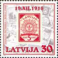 [The 70th Anniversary of First Latvian Stamp, Typ IX]