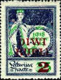 [No. 22 Overprinted with New Value, Typ N]