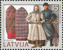 [Mittens - Traditional Latvian Winther Clothes, Typ OE]