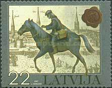[The 375th Anniversary of Latvian Post - Self-Adhesive Stamps, Typ RK]
