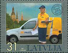 [The 375th Anniversary of Latvian Post - Self-Adhesive Stamps, Typ RL]