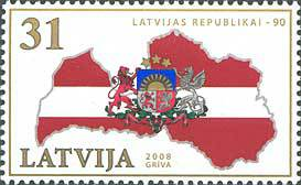 [The 90th Anniversary of The Latvian Republic, Typ SU]