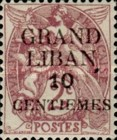 "[French Postage Stamps Surcharged & Overprinted ""GRAND - LIBAN"", type A]"