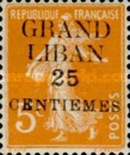 "[French Postage Stamps Surcharged & Overprinted ""GRAND - LIBAN"", type A1]"