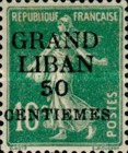 "[French Postage Stamps Surcharged & Overprinted ""GRAND - LIBAN"", type A2]"