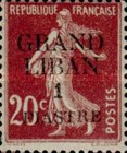 "[French Postage Stamps Surcharged & Overprinted ""GRAND - LIBAN"", type A4]"