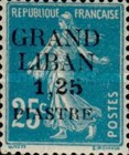 "[French Postage Stamps Surcharged & Overprinted ""GRAND - LIBAN"", type A5]"