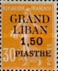 "[French Postage Stamps Surcharged & Overprinted ""GRAND - LIBAN"", type A6]"
