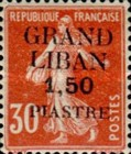 "[French Postage Stamps Surcharged & Overprinted ""GRAND - LIBAN"", type A7]"