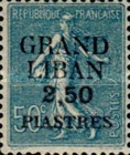 "[French Postage Stamps Surcharged & Overprinted ""GRAND - LIBAN"", type A8]"