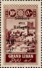 "[War Refugee Charity - Various Stamps Overprinted ""Secours aux Refugies Afft"" and Surcharged in French and Arabic, Typ AB4]"