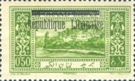 "[Issues of 1925 and Provisional Stamps of Lebanon Overprinted ""Republique Libanaise"", Typ AM]"