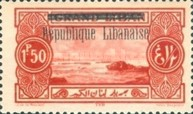 "[Issues of 1925 and Provisional Stamps of Lebanon Overprinted ""Republique Libanaise"", Typ AO]"