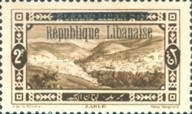 "[Issues of 1925 and Provisional Stamps of Lebanon Overprinted ""Republique Libanaise"", Typ AP]"