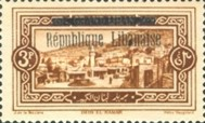 "[Issues of 1925 and Provisional Stamps of Lebanon Overprinted ""Republique Libanaise"", Typ AQ]"