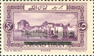 "[Issues of 1925 and Provisional Stamps of Lebanon Overprinted ""Republique Libanaise"", Typ AT]"