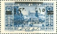 "[Issues of 1925 and Provisional Stamps of Lebanon Overprinted ""Republique Libanaise"", Typ AW]"