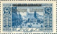 "[Issues of 1925 and Provisional Stamps of Lebanon Overprinted ""Republique Libanaise"", Typ AX]"