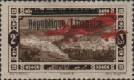 "[Airmail - Issues of 1926 Overprinted ""Republique Libanaise"", Typ AY]"