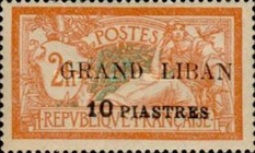 "[French Postage Stamps Surcharged & Overprinted ""GRAND LIBAN"", type B3]"
